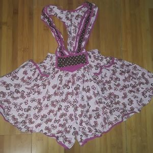 Vintage Butterfly Easter Romper Suspender Skirt
